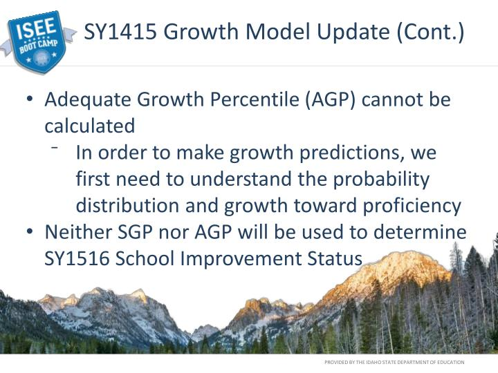 SY1415 Growth Model Update (Cont.)