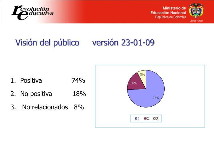 Visión del público     versión 23-01-09