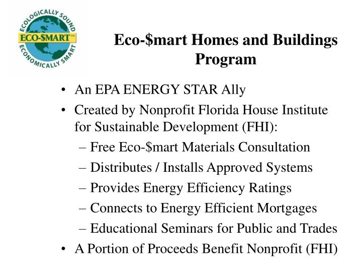 Eco-$mart Homes and Buildings Program