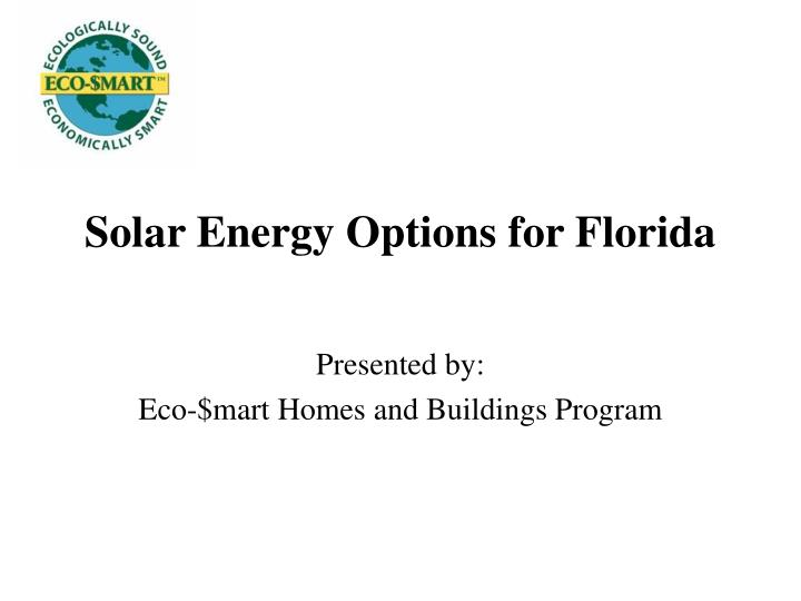 Solar energy options for florida