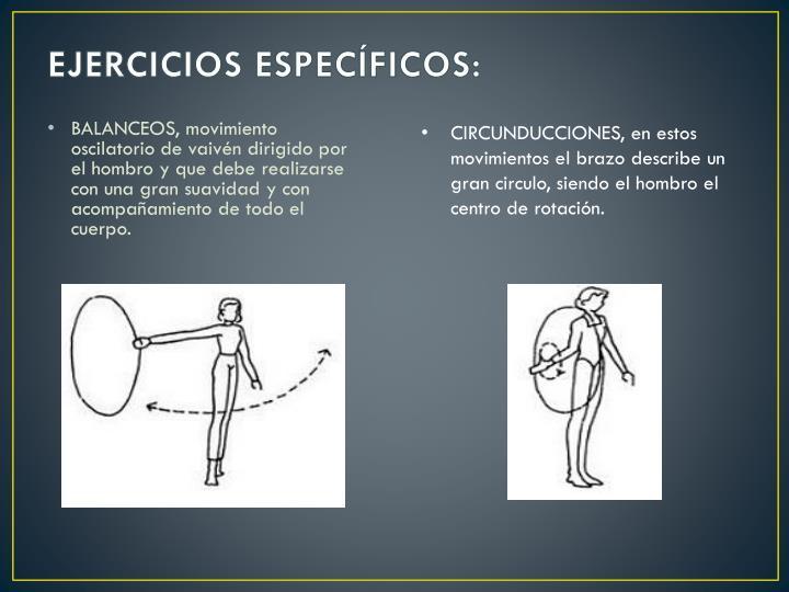EJERCICIOS ESPECÍFICOS