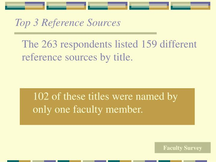 Top 3 Reference Sources