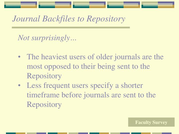 Journal Backfiles to Repository
