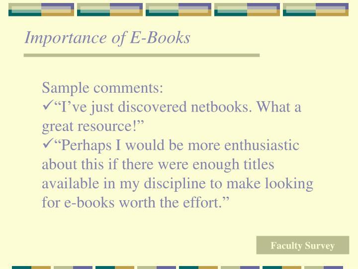 Importance of E-Books