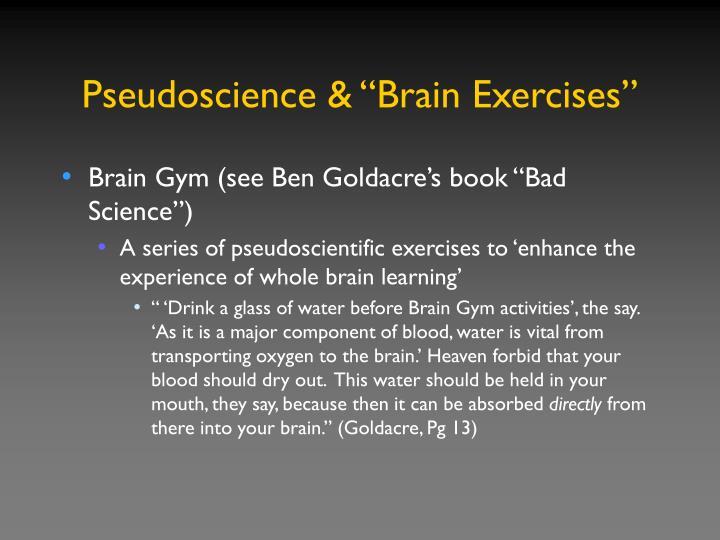 "Pseudoscience & ""Brain Exercises"""