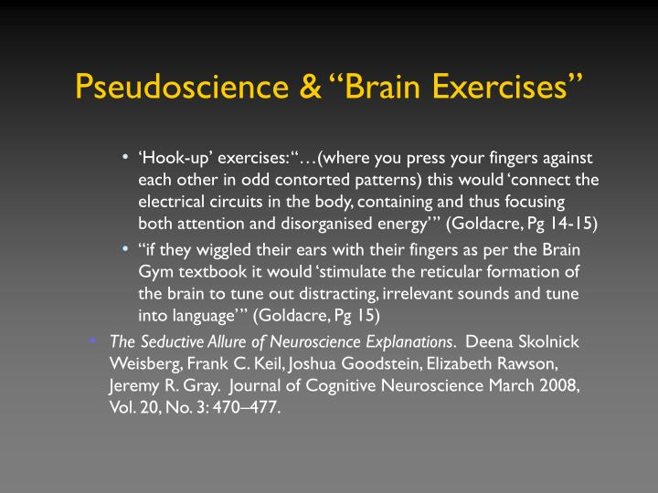 "Pseudoscience & ""Brain Exercises"""