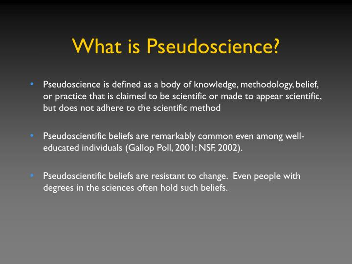 What is pseudoscience