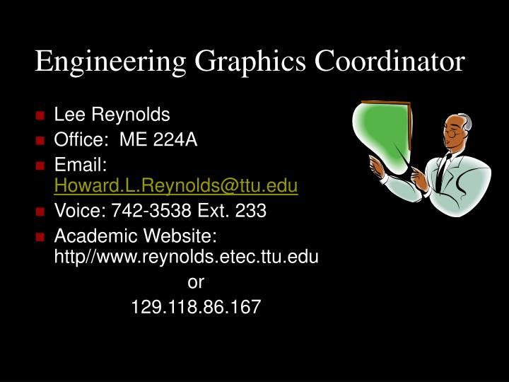 Engineering graphics coordinator
