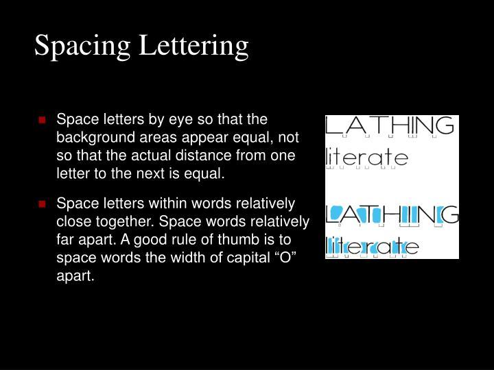 Spacing Lettering