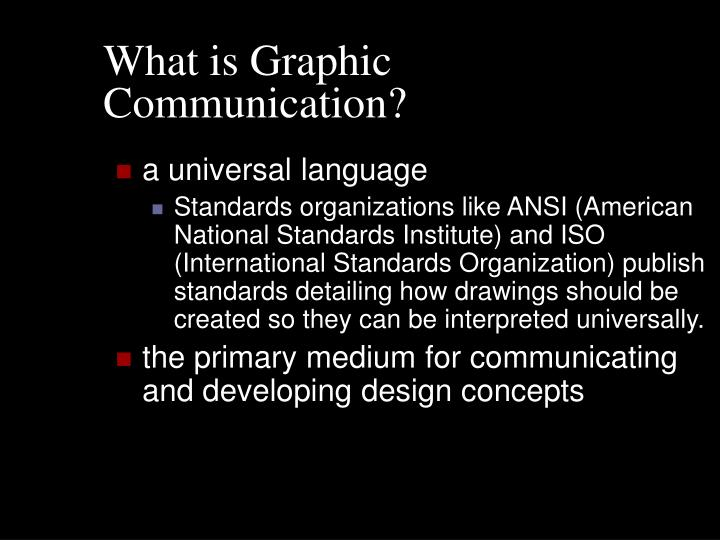 What is Graphic Communication?