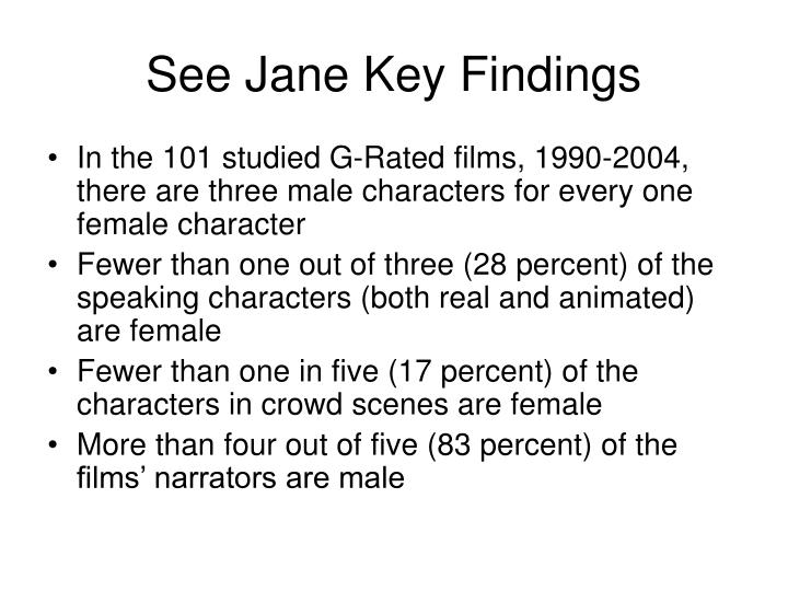 See Jane Key Findings
