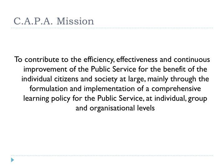 C.A.P.A. Mission