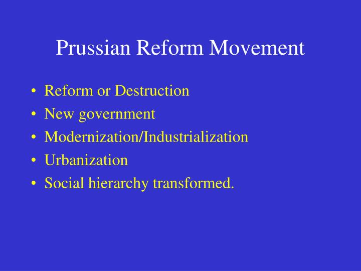 Prussian Reform Movement