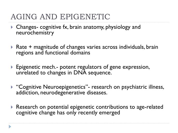 AGING AND EPIGENETIC