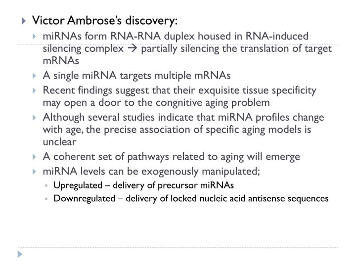 Victor Ambrose's discovery: