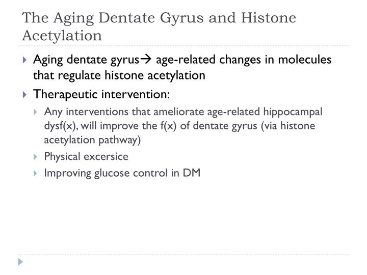 The Aging Dentate