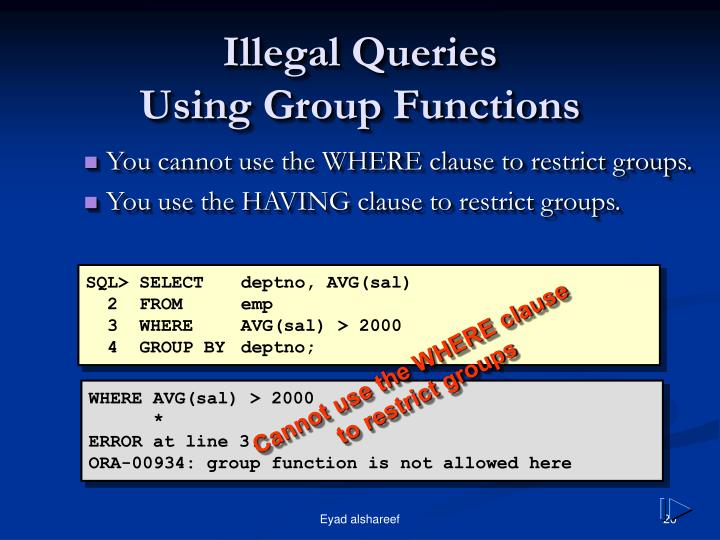 Illegal Queries