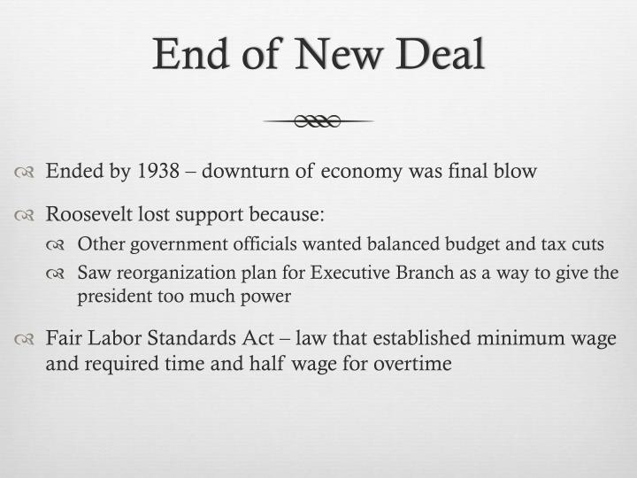 End of New Deal
