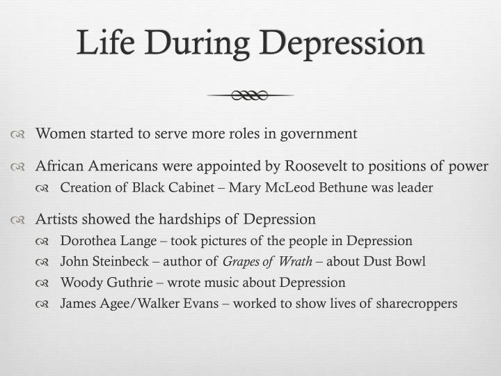 Life During Depression