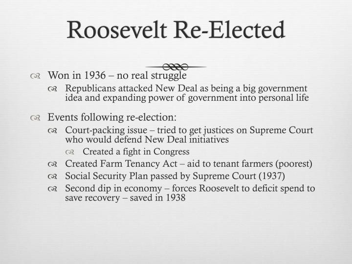 Roosevelt Re-Elected