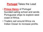 portugal takes the lead