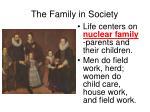 the family in society