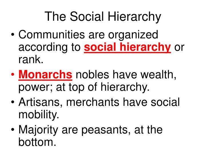 The Social Hierarchy