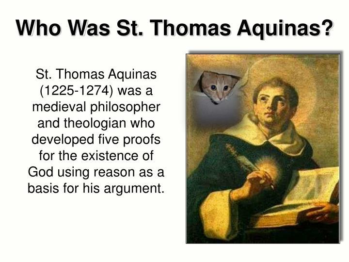 thomas aquinas defines the existence of god