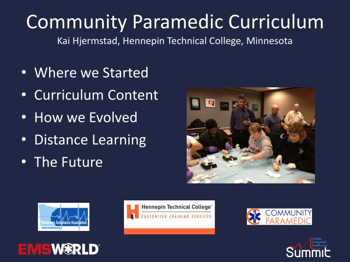 Community Paramedic Curriculum
