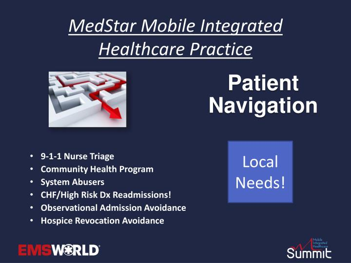 Medstar mobile integrated healthcare practice