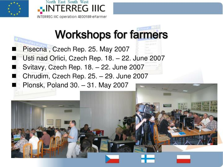 Workshops for farmers