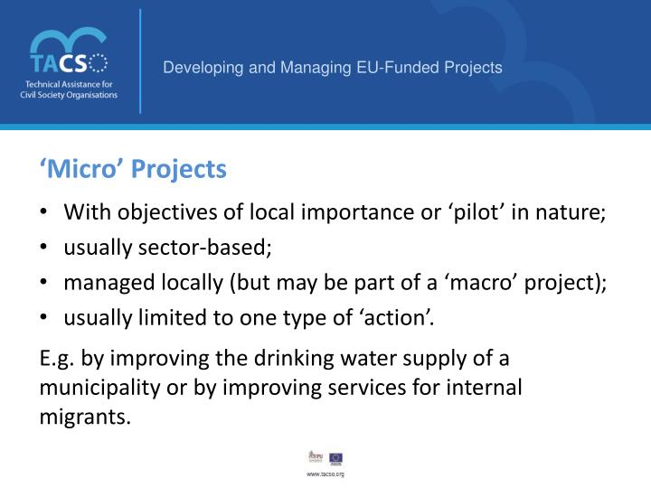 'Micro' Projects