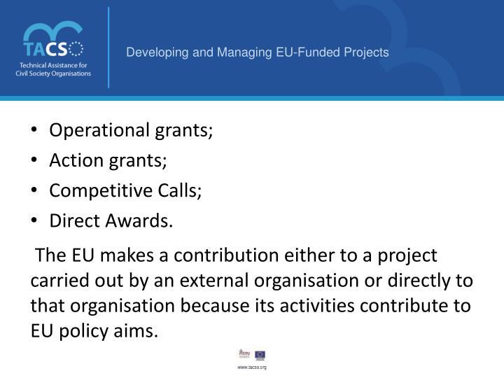 Operational grants
