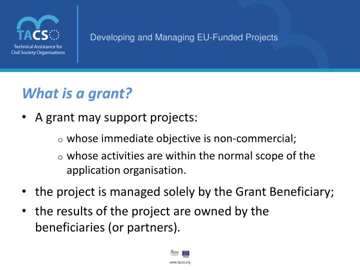 What is a grant?