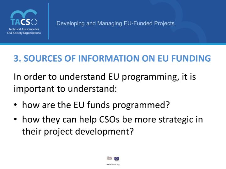 3. SOURCES OF INFORMATION ON EU FUNDING