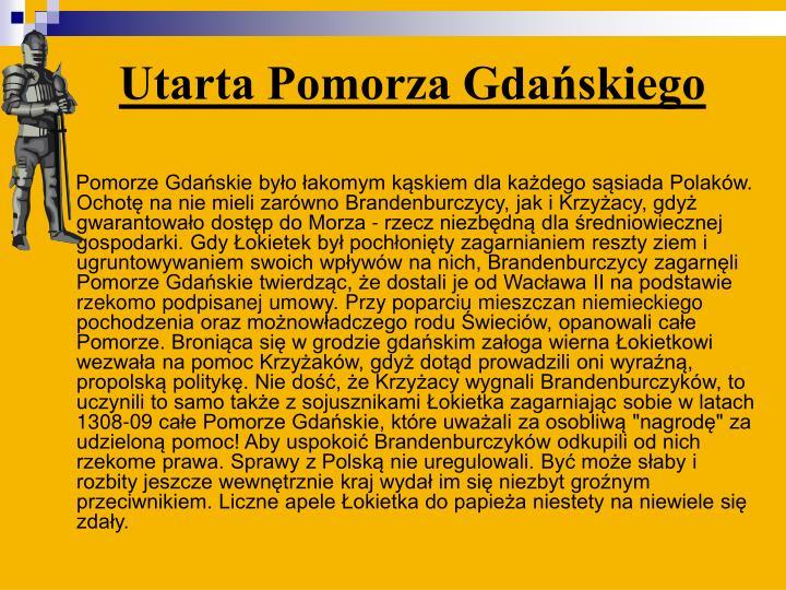 Utarta Pomorza Gdańskiego