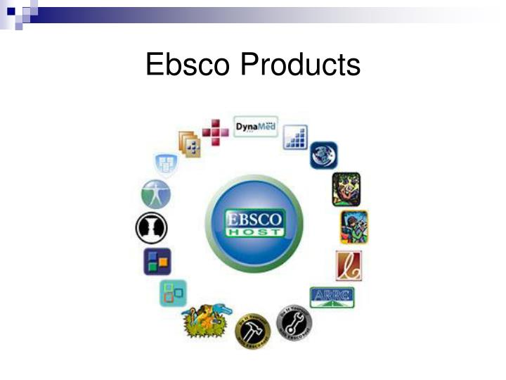 Ebsco Products