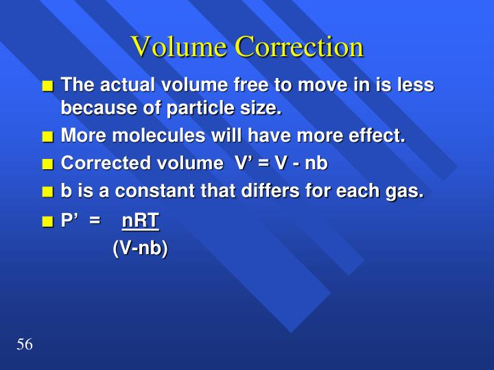 Volume Correction