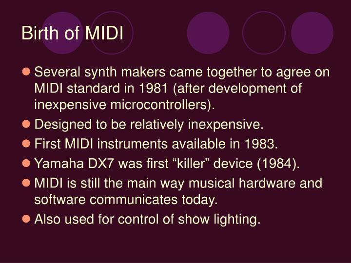 Birth of MIDI