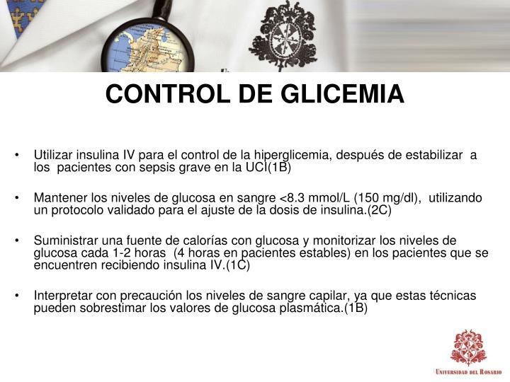 CONTROL DE GLICEMIA