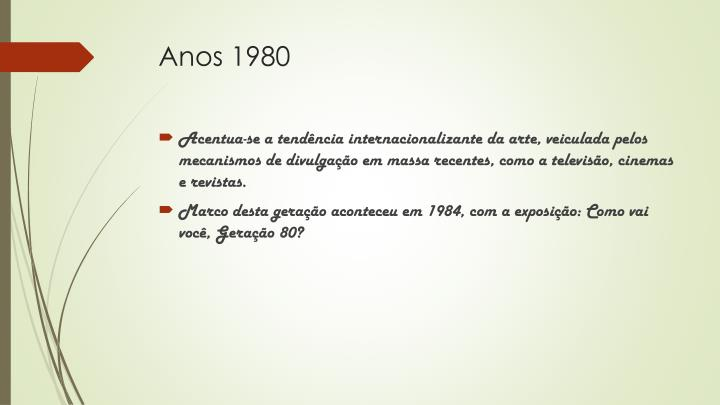 Anos 1980