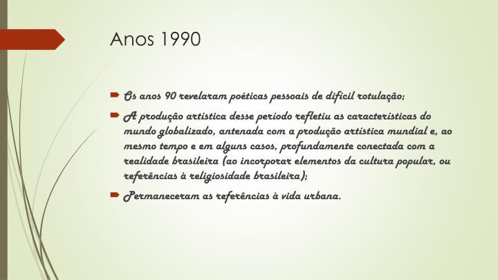 Anos 1990