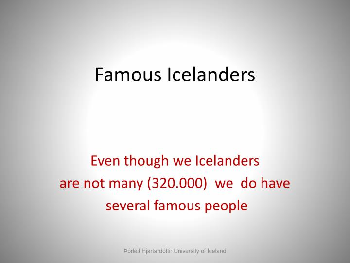 Famous Icelanders