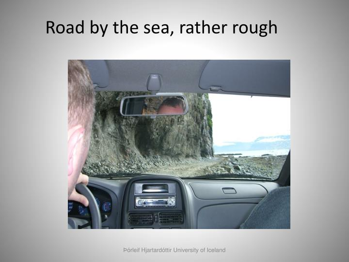 Road by the sea, rather rough