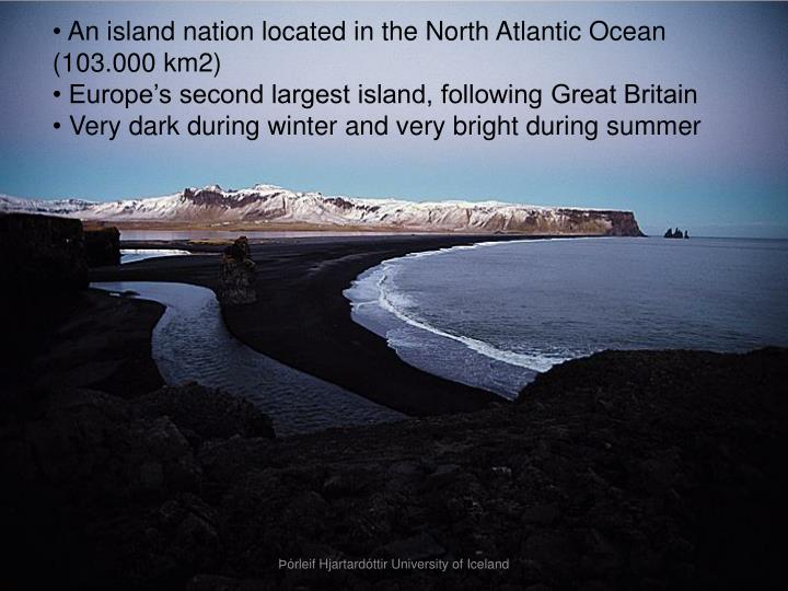 An island nation located in the North Atlantic Ocean