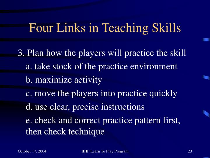 Four Links in Teaching Skills