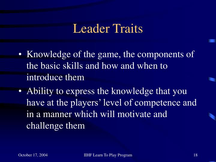 Leader Traits
