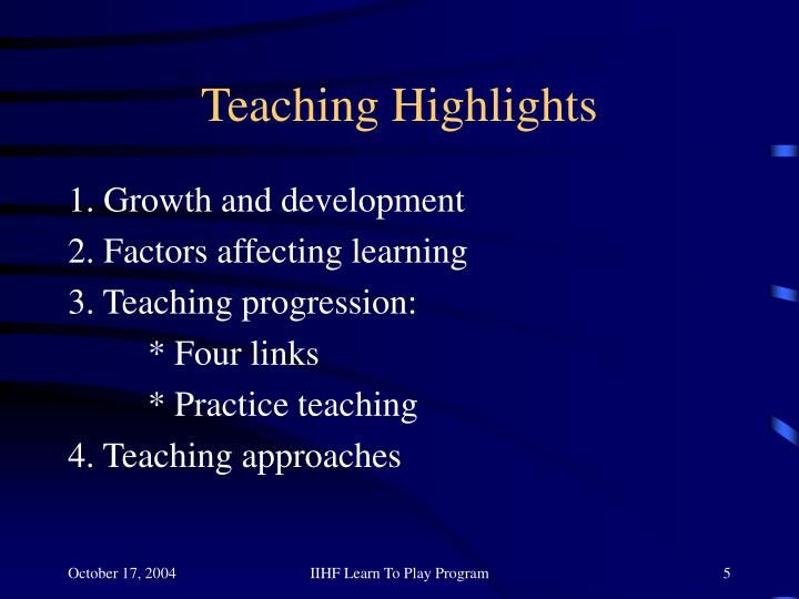 Teaching Highlights