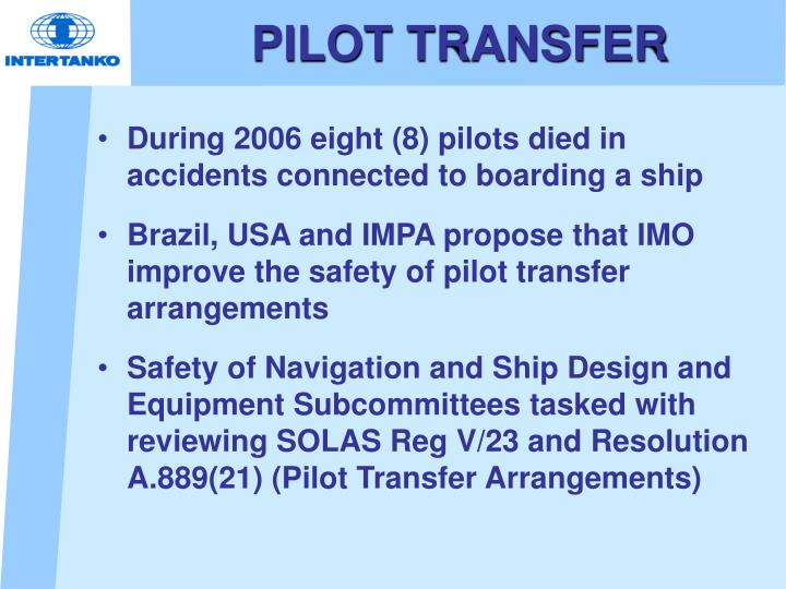 PILOT TRANSFER
