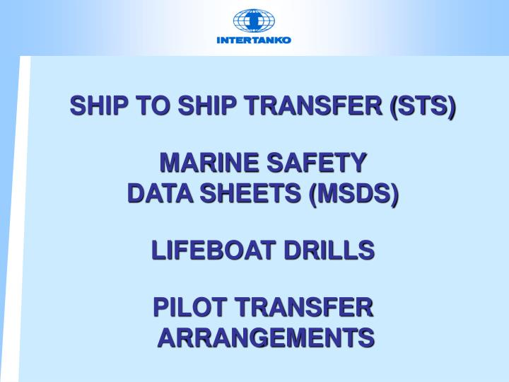 SHIP TO SHIP TRANSFER (STS)